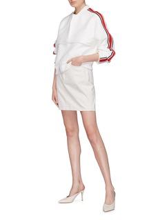 C/Meo Collective  'Totality' yoke overlay stripe sleeve boxy jacket