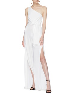 C/Meo Collective  'Recollect' split outseam sash tie one-shoulder jumpsuit