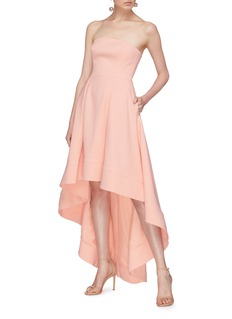 C/Meo Collective  'Entice' ruffle high-low strapless gown