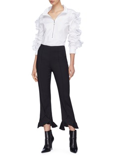 C/Meo Collective  'Forgive' ruffle cuff cropped pants