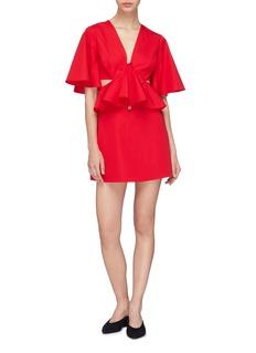 C/Meo Collective  'Temporary Love' cutout waist ruffle mini dress