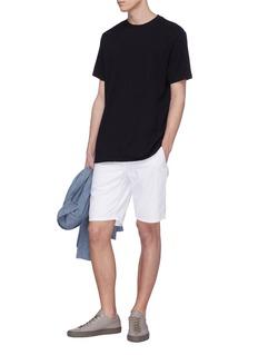 bassike '240 Vintage' contrast topstitching twist seam T-shirt