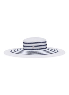 Maison Michel 'Bianca' stripe Lurex hat