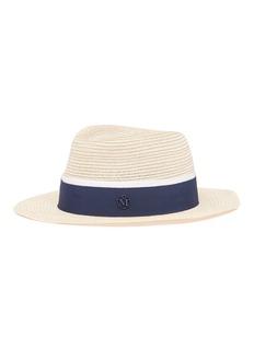 Maison Michel 'André' hemp straw trilby hat
