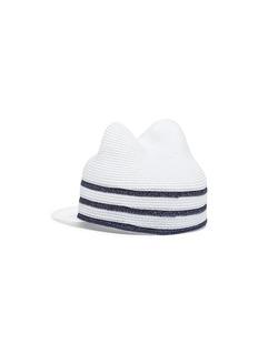 Maison Michel 'Jamie' stripe mariniere straw cat ear cap
