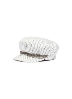 Maison Michel 'New Abby' chain stripe sailor cap