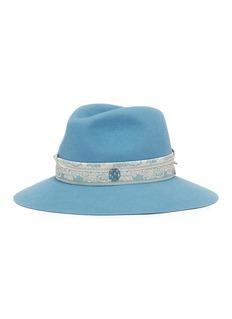 Maison Michel 'Henrietta' floral jacquard scarf rabbit furfelt fedora hat