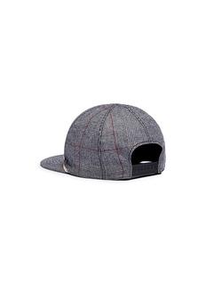 Maison Michel 'Nick' crest appliqué houndstooth baseball cap