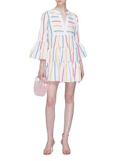 Caroline Constas 'Lyssa' stripe flared tiered mini dress