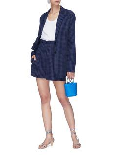 Tibi Gingham check paperbag shorts