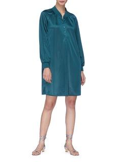 Tibi Raglan sleeve piqué dress