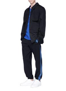 FENG CHEN WANG 牛仔条纹弹力休闲裤