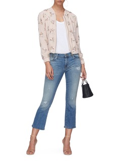 Needle & Thread Sequinned floral bomber jacket