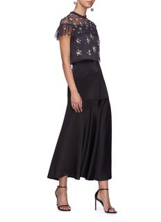Needle & Thread 'Lustre' ruffle yoke floral embellished tulle top