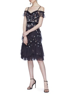 Needle & Thread 'Lustre' floral embellished tiered off-shoulder dress