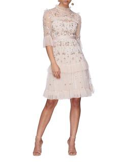 Needle & Thread 'Lustre' floral embellished tiered dress