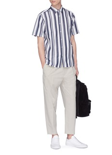 Theory 'Irving' stripe cotton-linen shirt