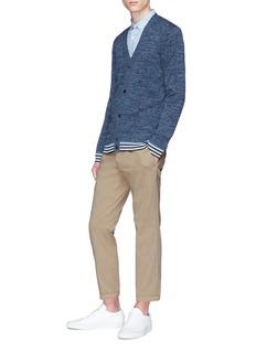 Theory 'Canelos' stripe hem cardigan