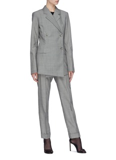 Helmut Lang Double breasted virgin wool-mohair blazer