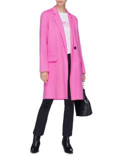 Helmut Lang Double-faced wool-cashmere melton coat
