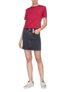Current/Elliott Contrast pocket denim skirt