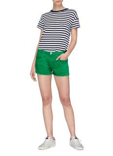 Current/Elliott 'The Boyfriend' raw cuff denim shorts