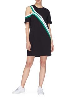Current/Elliott 'The Slit' cutout shoulder contrast stripe dress