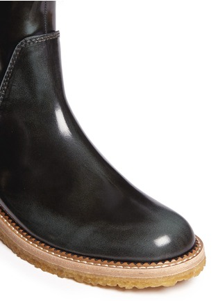Detail View - Click To Enlarge -  - Burnished leather ankle boots