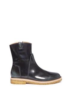 MAISON MARTIN MARGIELABurnished leather ankle boots