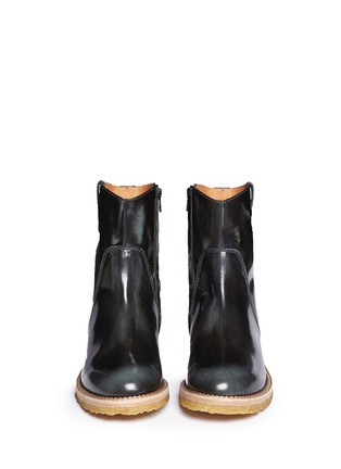 Figure View - Click To Enlarge -  - Burnished leather ankle boots