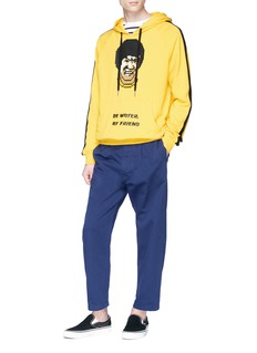 Mostly Heard Rarely Seen 'Bruce Lee' rubber appliqué hoodie