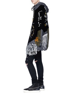 Haculla Graphic embroidered colourblock hoodie