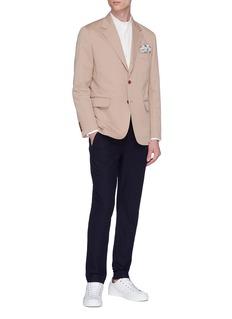 CAMOSHITA 棉混亚麻斜纹布西服夹克