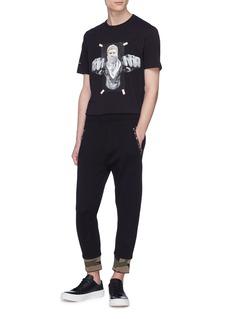 Neil Barrett Camouflage print cuff neoprene jogging pants