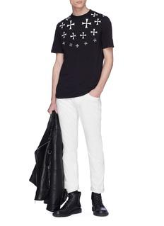 NEIL BARRETT 马耳他十字印花棉质T恤