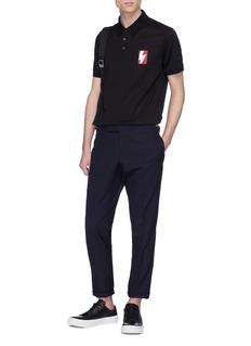 Neil Barrett Thunderbolt appliqué polo shirt