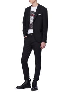 Neil Barrett Leather flap pocket blazer