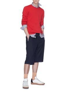Maison Margiela Pinstripe wool shorts