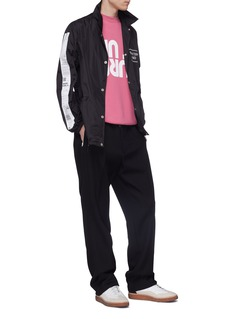 Maison Margiela Receipt stripe sleeve coach jacket