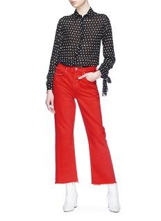 GRLFRND 'Linda' frayed cuff cropped jeans