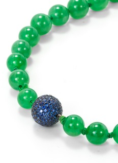 Samuel Kung Sapphire jadeite 18k white gold beaded necklace