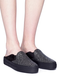 RODO Strass embellished suede slide sneakers