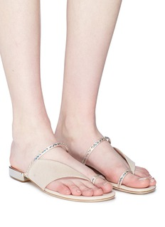 RODO Strass cutout suede sandals