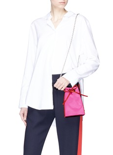 RODO Strass embellished satin bucket bag