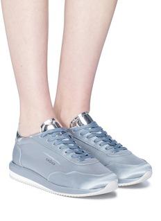 GHŌUD Slit quarter satin sneakers