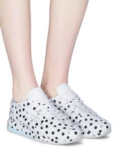 GHŌUD Slit quarter polka dot print leather sneakers