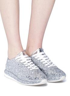 GHŌUD Slit quarter glitter sneakers