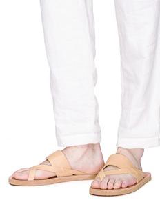 ANCIENT GREEK SANDALS 'Zinon' cross strap leather sandals