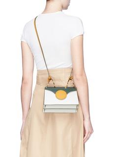 Danse Lente 'Mini Phoebe' spiral handle colourblock leather crossbody bag