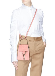Chloé 'Faye' small suede flap leather bracelet bag